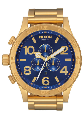 NIXON 51-30 Chrono All Gold / Blue Dial Gents Watch