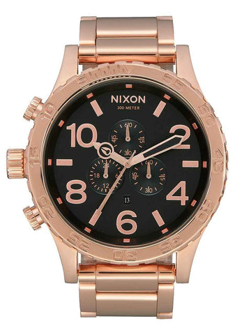 NIXON 51-30 Chrono All Rose Gold / Black Gents Watch