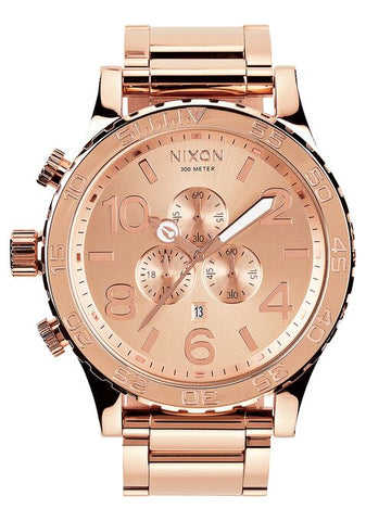 NIXON 51-30 Chrono All Rose Gold Gents Watch A083-897-00