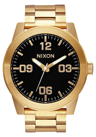 NIXON Corporal SS Gold with Black Dial Watch A346-510-00