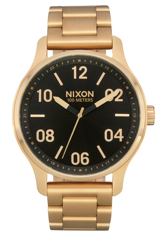 NIXON Patrol Gold with Black Face Watch A1242-513-00