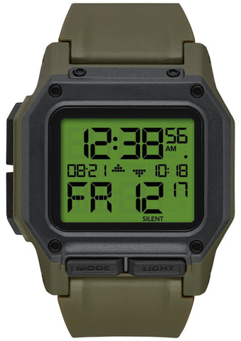 NIXON Regulus Digital Army Surplus & Carbon Colour Watch