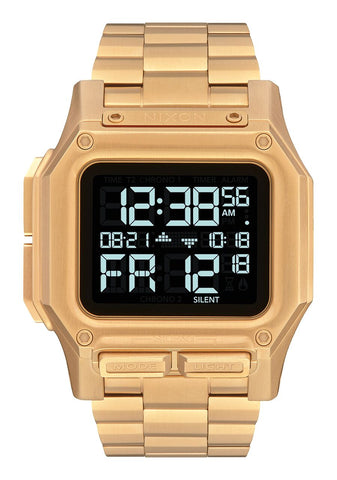 NIXON Regulus Digital Yellow Gold IP Stainless Steel Watch A1268-502-00