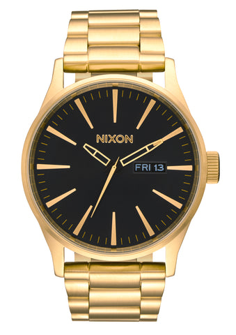 NIXON Sentry SS All Gold with Black Face Watch A356-510-00