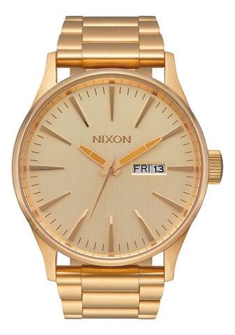 NIXON Sentry Stainless Steel All Gold & Gold Face Watch A356-502-00