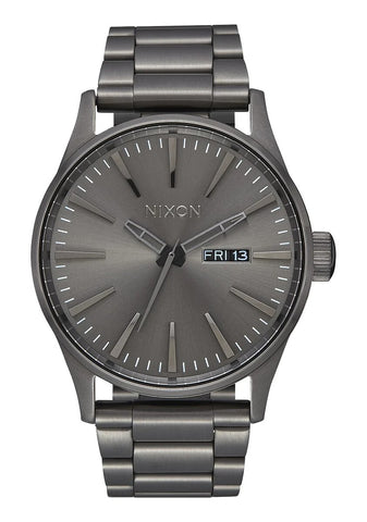 NIXON Sentry Stainless Steel Gunmetal Watch A356-632-00