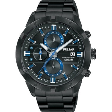 PULSAR PM3173X Chronograph Black & Blue Gents Watch
