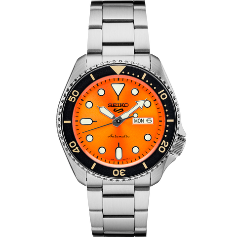 Seiko 5 Automatic Gents Watch SRPD59K1 Orange Dial