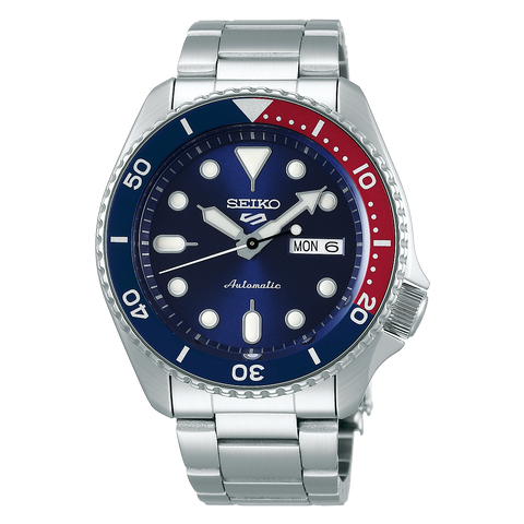 Seiko 5 Automatic Gents Watch SRPD53K1 Pepsi Colour Theme