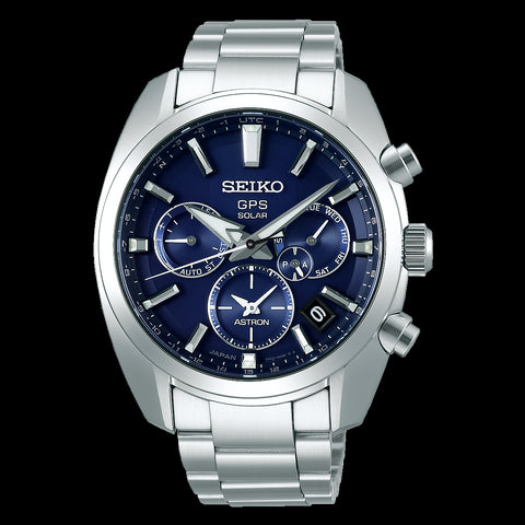 Seiko Astron SSH019J1 Blue Dial Stainless Steel GPS Solar Watch