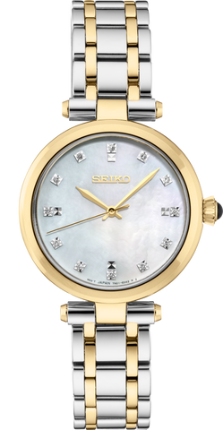 Seiko Ladies Gold Stainless Steel Diamond Set Watch SRZ532P