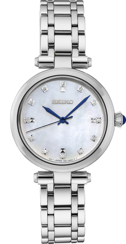 Seiko Ladies Stainless Steel Diamond Set Watch SRZ529P