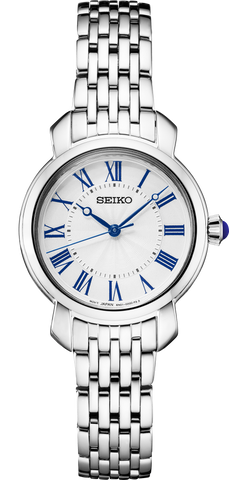 Seiko Ladies Watch Blue Markers Stainless Steel Strap SUR629P
