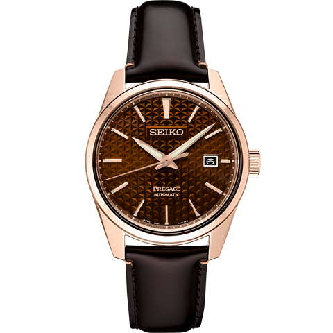 Seiko Presage 'Sharp Edge' Automatic Watch Bronze Textured Dial SPB170J