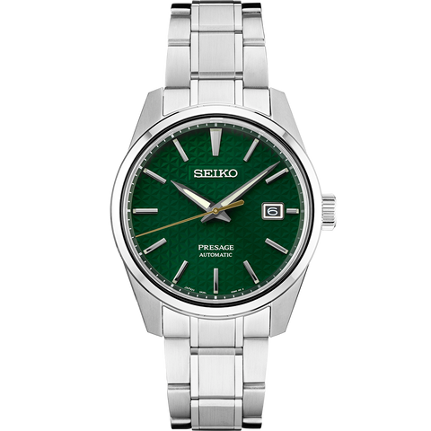 Seiko Presage 'Sharp Edge' Automatic Watch Green Textured Dial SPB169J