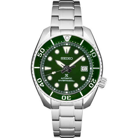 "Seiko SPB103J1 Prospex ""Sumo"" Divers Green Dial Automatic Stainless Steel Case & Strap"