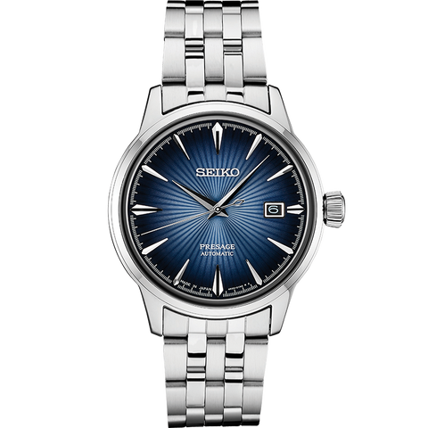 "Seiko SRPB41J Presage Automatic Watch ""Cocktail Time"" Blue Dial"