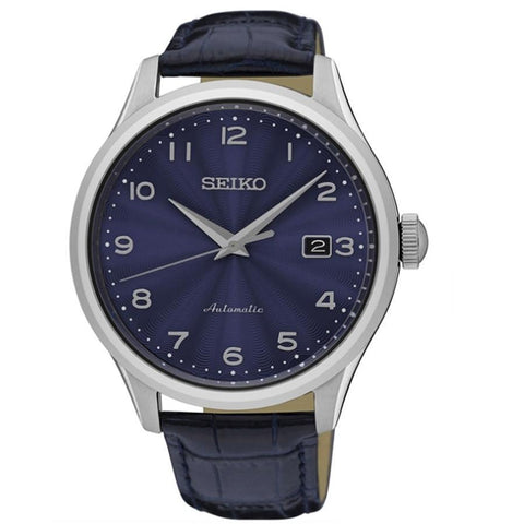 Seiko SRPC21K Automatic Gents Watch Blue Dial Leather Strap