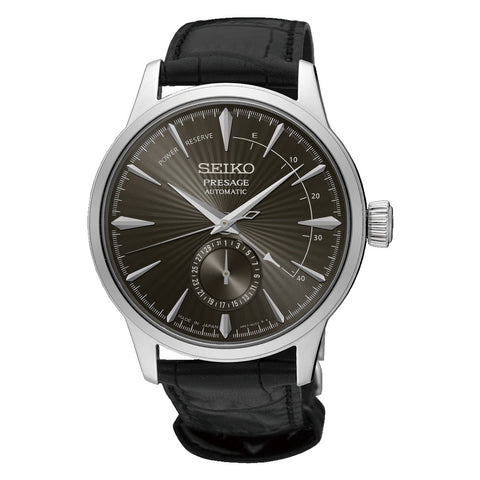 Seiko SSA345J Presage Automatic Watch Black Dial Power Indicator