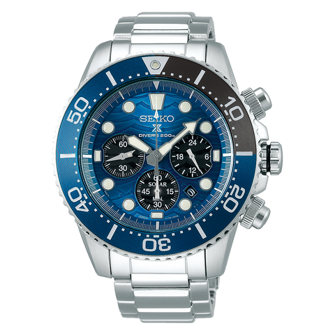 "Seiko SSC741P Solar Divers Watch Prospex ""Save The Ocean Great White"" Special Edition"