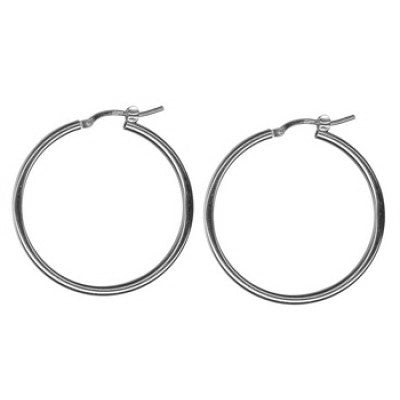Sterling Silver Hoop Earrings HEP230