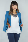 Shawl Collar Cape Sleeve Blazer