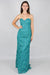 Dixie Strapless Tape-Line Lace Gown