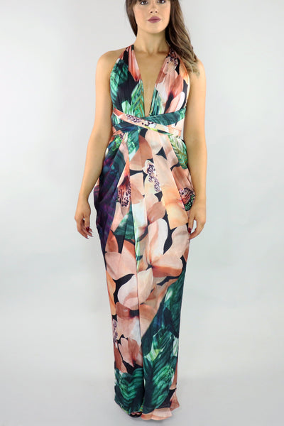 Tropical Floral Maxi Dress