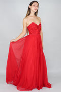 Harper A-Line Gown With Satin Detailing