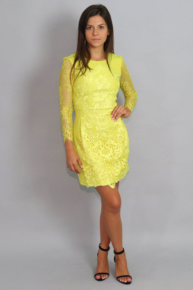 Long Sleeve Crochet Dress
