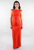 Orange Pewter Maxi Dress