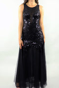 Mesh Sequin Gown