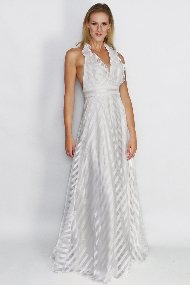 Selina Fall Plunging Necline Gown