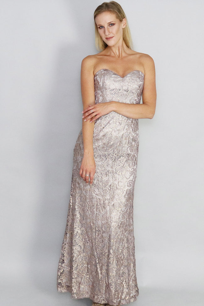 Isabella Sweetheart Lace Gown