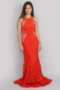 Rebecca Chilli Lace High Neck Lace Gown