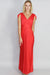Indianna Detail V Neck Drape Gown
