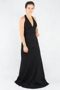 Low Cut Black Gown