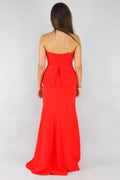 Cassandra Strapless Fishtail Red Gown