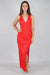 Animal Instinct V Neck Maxi Dress