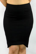 Pencil Black Mini Skirt