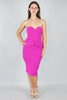Magenta Peplum Sweetheart Dress