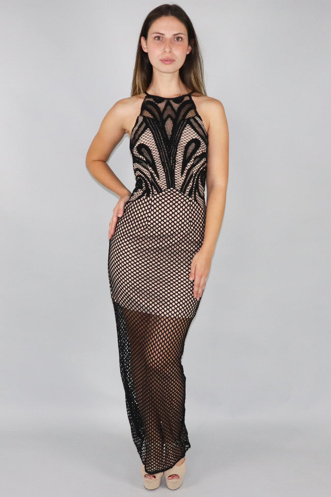 Knit Fitted Dress with Short Underlay