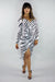 High Low Zebra Pattern Dress