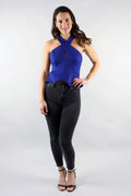 Criss Cross Peplum Crop Top