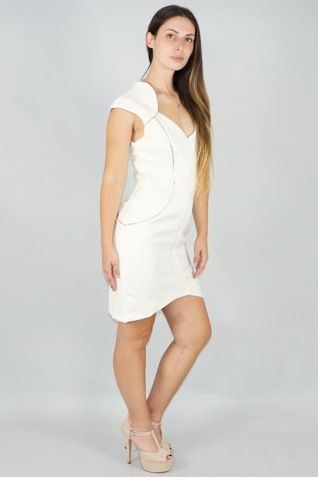 Collared Jacquard Bodycon