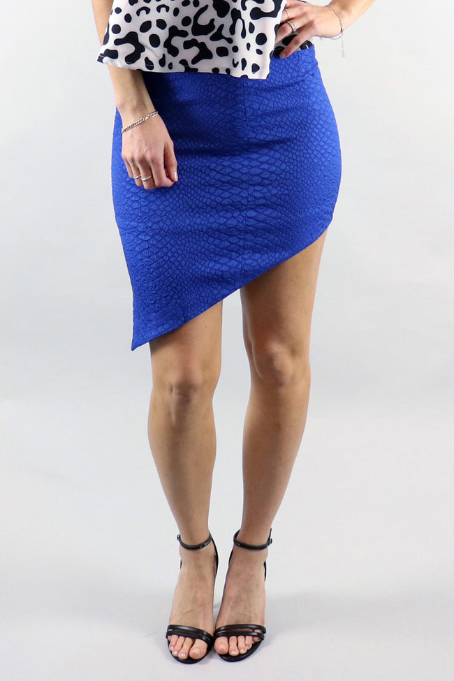 Snake Bite Cobalt Blue Skirt