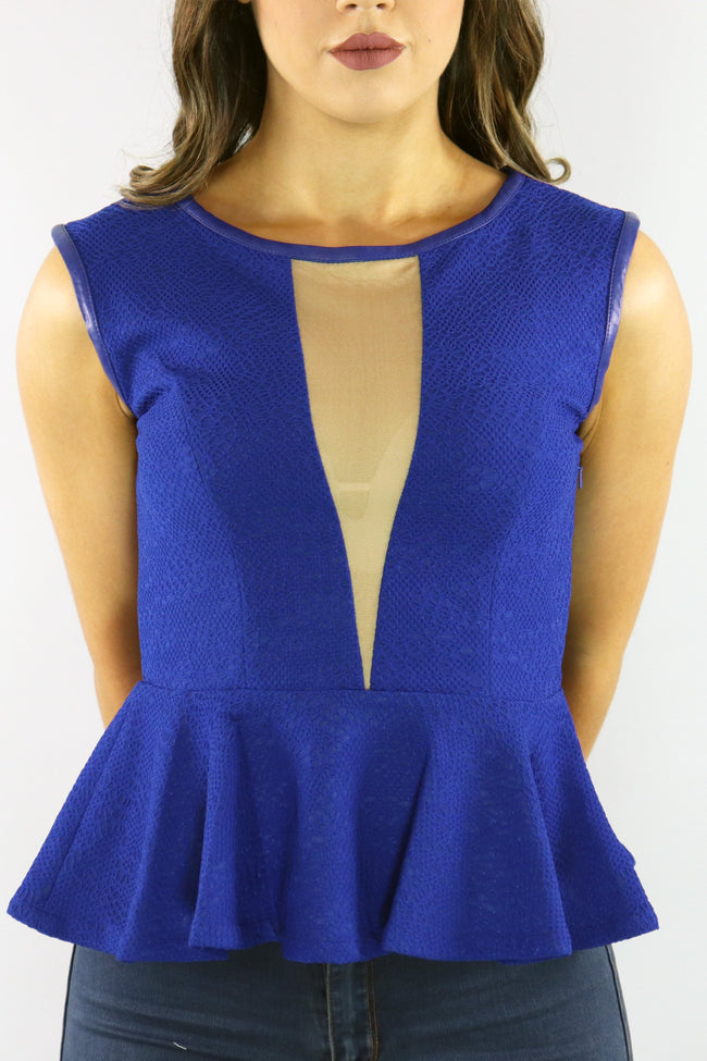 The Ripple Effect Peplum Top