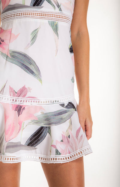Floral Dress With Trim Details