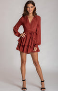 Long Sleeve Playsuit With Ruffle Detail