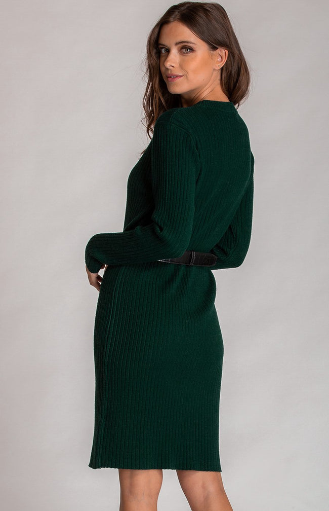 Teal Loose Fit Midi Length Knit Dress
